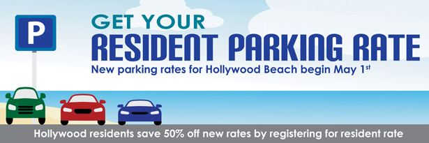 Hollywood Beach Parking Rate Notify Me Banner